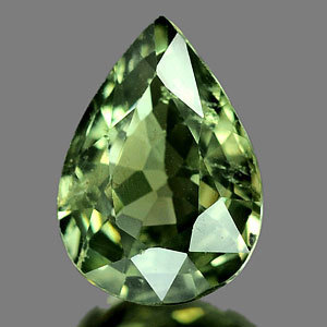 Genuine GREEN SAPPHIRE .87ct 6.6 x 5.2 x 2.3mm Oval