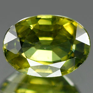 Genuine GREEN SAPPHIRE .96ct 7.0 x 5.0 x 3.1mm Oval