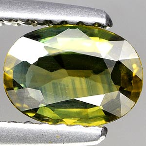 Genuine GREEN SAPPHIRE .97ct 7.3 x 5.4 x 2.7mm Oval
