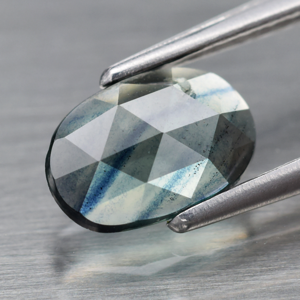 Genuine Green Sapphire .62ct 7.0 x 5.0mm Rose Cut VS Clarity