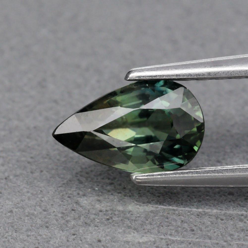 Genuine 100% Natural Green Sapphire .72ct 7.0 x 4.3mm Pear VS Clarity
