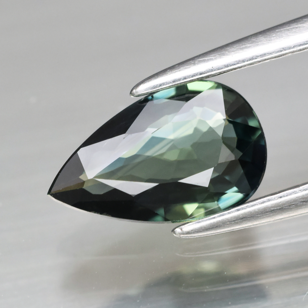 Genuine Greenish Blue Sapphire 0.77ct 8.0 x 5.0mm Pear IF Clarity
