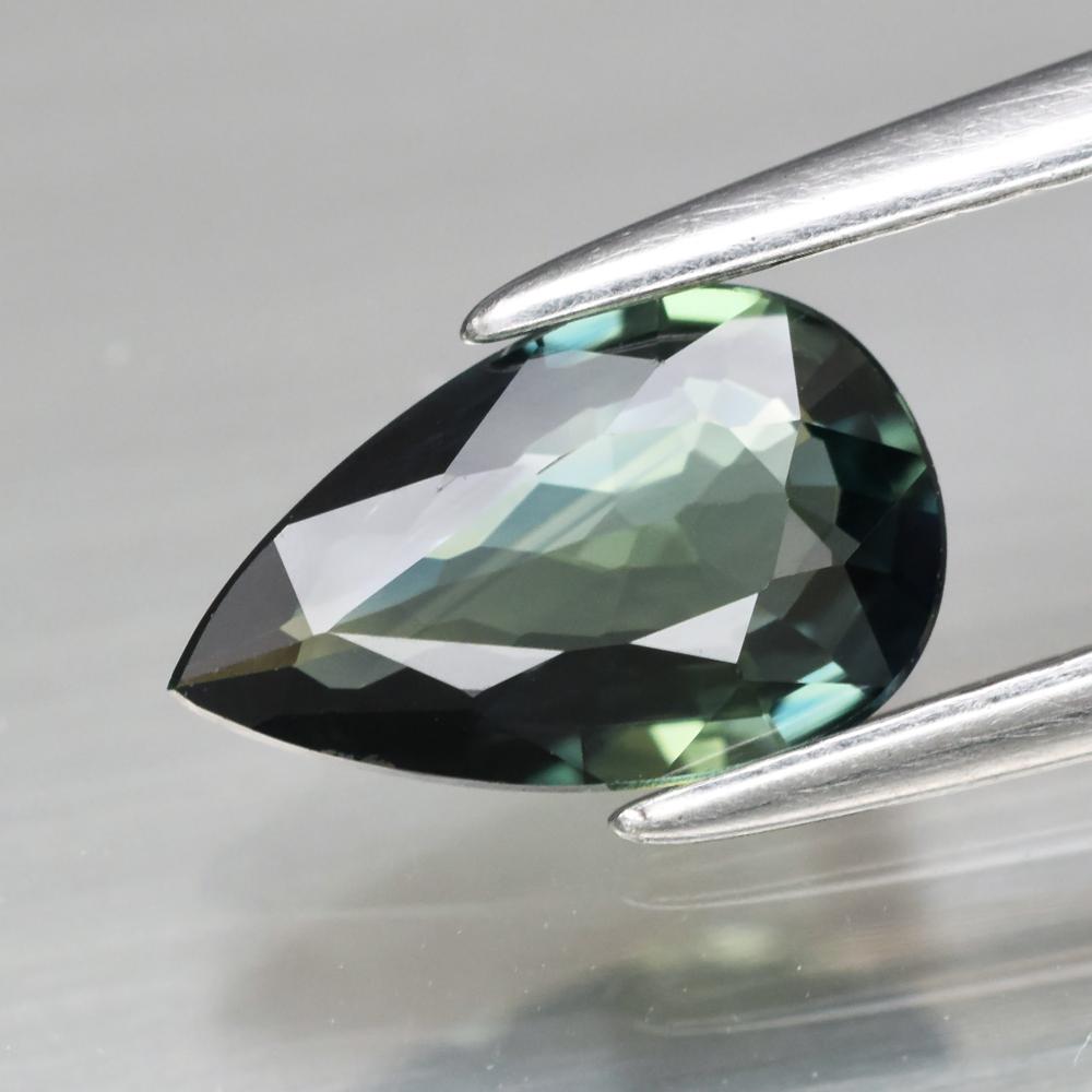 Genuine Greenish Blue Sapphire 0.77ct 8.0 x 5.0mm Pear IF Clarity