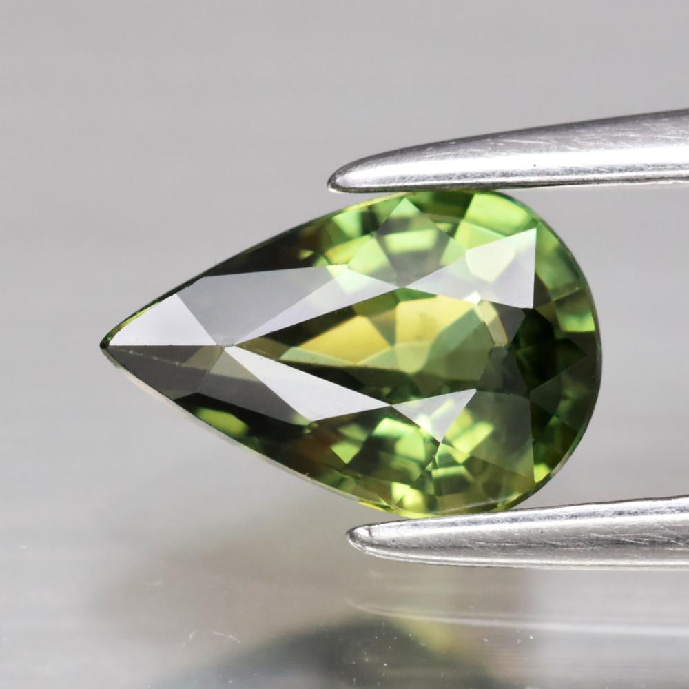 Genuine Green Sapphire .83ct 7.4 x 5.0mm Pear VVS Clarity