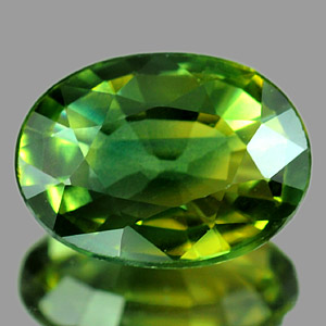 Genuine GREEN SAPPHIRE 1.00ct 7.2 x 5.3 x 2.7mm Oval