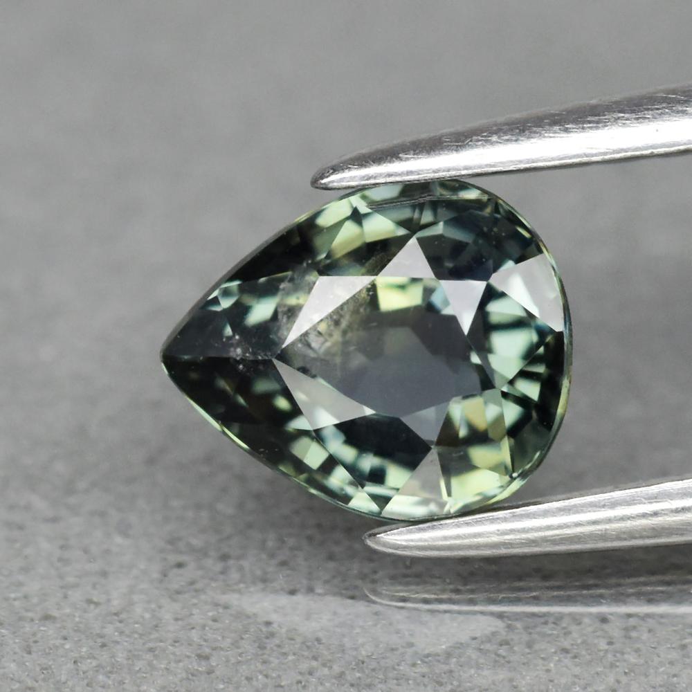 Genuine 100% Natural Green Sapphire 1.12ct 6.6 x 5.5mm Pear SI1 Clarity