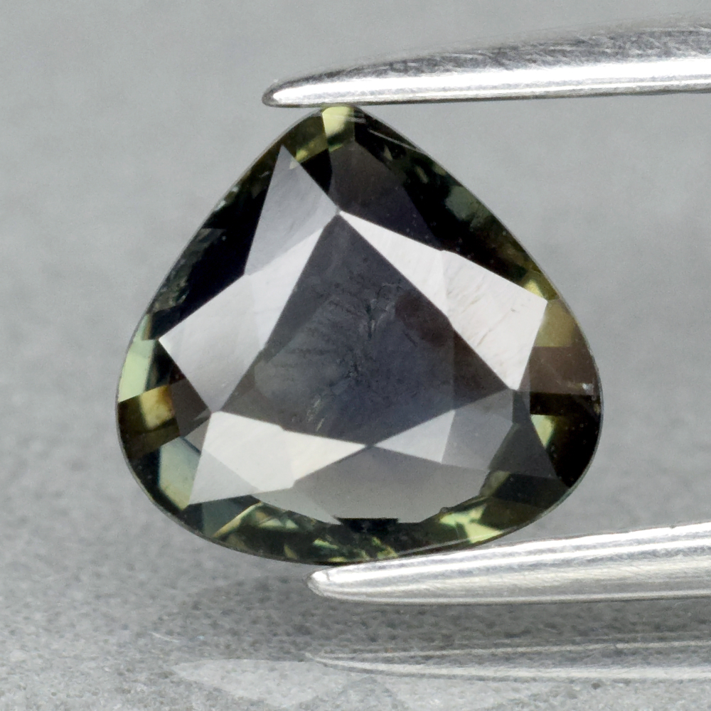 Genuine 100% Natural Green Sapphire 1.13ct 7.0 x 6.8mm Pear SI1 Clarity