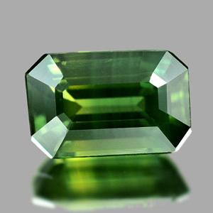 Genuine Green Sapphire 1.22ct 7.4 x 4.8mm Octagon VS1 Clarity