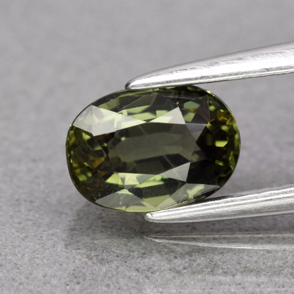 Genuine 100% Natural Green Sapphire 1.25ct 7.0 x 5.0mm Oval SI1 Clarity