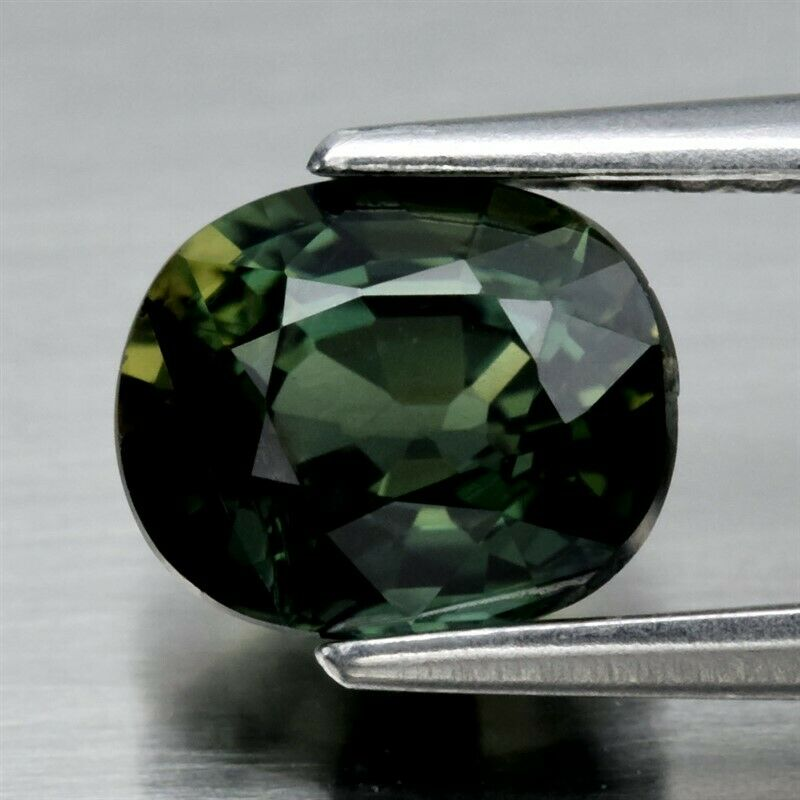 Genuine 100% Natural Green Sapphire 1.25ct 6.5 x 5.4mm Oval VS Clarity