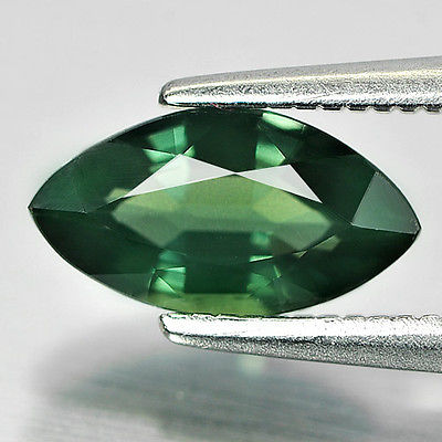 Genuine Bluish Green Sapphire 1.26ct 9.4x5x3.2mm VVS Thailand