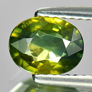 Genuine Green Sapphire 1.30ct 7.5 x 5.8 x 3.3mm Thailand SI