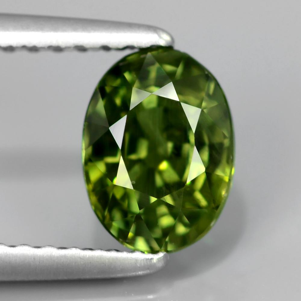 Genuine Green Sapphire 1.32ct 7x5.3x4mm SI1 Thailand