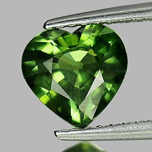Genuine Green Sapphire 1.38ct 7.6x7.4x3.8 VVS Thailand