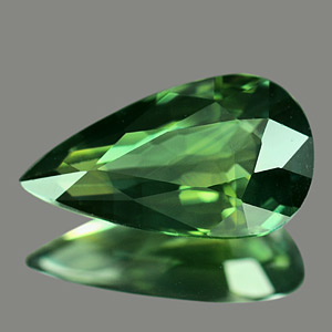 Genuine Green Sapphire 1.43ct 10.1 x 5.7mm Pear VS1 Clarity