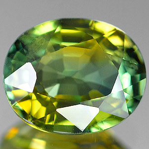 Genuine GREEN & YELLOW SAPPHIRE 1.46ct 7.2 x 6.0 x 3.7mm Oval