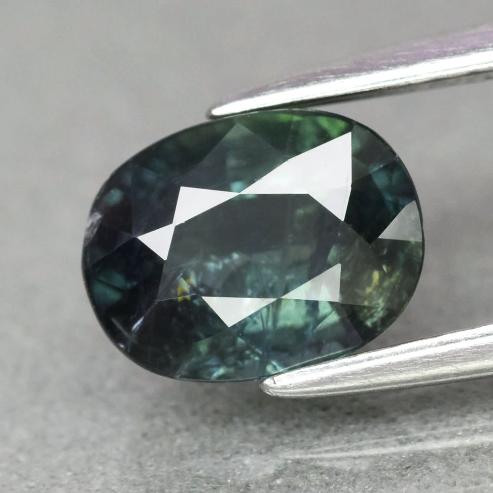 Genuine 100% Natural Green Sapphire 1.53ct 7.5 x 5.7mm Oval SI1 Clarity