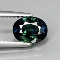 Genuine Green Sapphire 1.64ct 7.5x5.8x4mm SI1 Thailand
