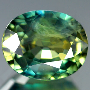 Genuine GREEN & YELLOW SAPPHIRE 1.70ct 7.7 x 6.2 x 4.0mm Oval