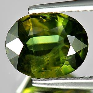Genuine Green Sapphire 1.96ct SI 8.7x6.8x3.7 Thailand