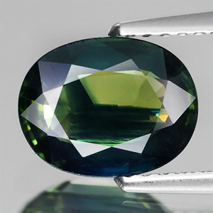 Genuine GREEN TRI COLOR SAPPHIRE 2.03ct 9.0 x 7.0 x 3.2mm Oval