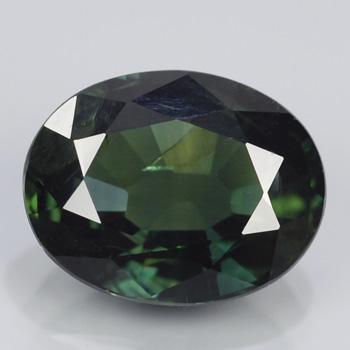Genuine 100% Natural Green Sapphire 2.42ct 8.8x7.0x4.3 SI1 Thailand