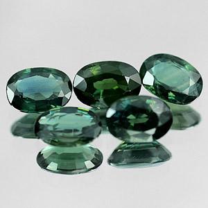 Genuine Green Sapphire .55ct 6.1 x 4.2 x 2.9mm Thailand VS1