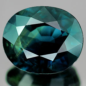 Genuine 100% Natural GREEN SAPPHIRE 3.34ct 9.7 x 8.1 x 4.7mm Oval (Certified)
