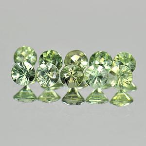 Genuine Green Sapphires 0.12cts 2.8x2.8x1.8 VVS Thailand