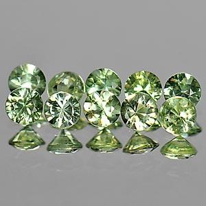 Genuine Green Sapphires 0.12cts 2.9x2.9x2.1 VS1 Thailand
