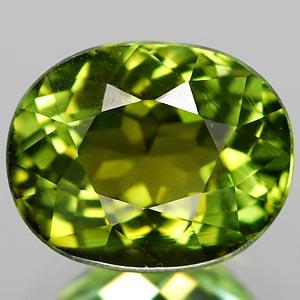 Genuine 100% Natural GREEN TOURMALINE 2.16ct 8.3 x 6.7 x 5.6mm Oval