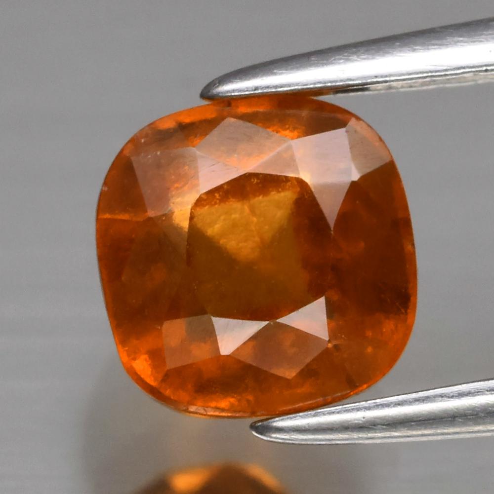 Genuine 100% Natural Hessonite Garnet 1.57ct 6.0 x 6.0mm Cushion Cut SI1 Clarity