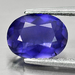 Genuine 100% Natural Blue Iolite 1.22ct 8.8 x 6.7mm Oval VS1 Clarity