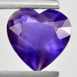 Genuine 100% Natural Violet Iolite 1.31ct 8.0 x 8.0mm Heart VS1 Clarity
