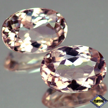 Genuine 100% Natural Pink Morganite 1.02ct 8.0 x 5.6mm Oval VVS Clarity