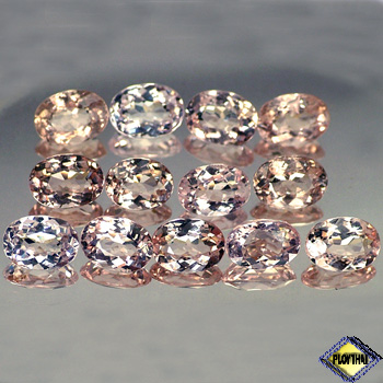 Genuine 100% Natural Pink Morganite .72ct 7.0 x 5.0mm Oval VVS Clarity