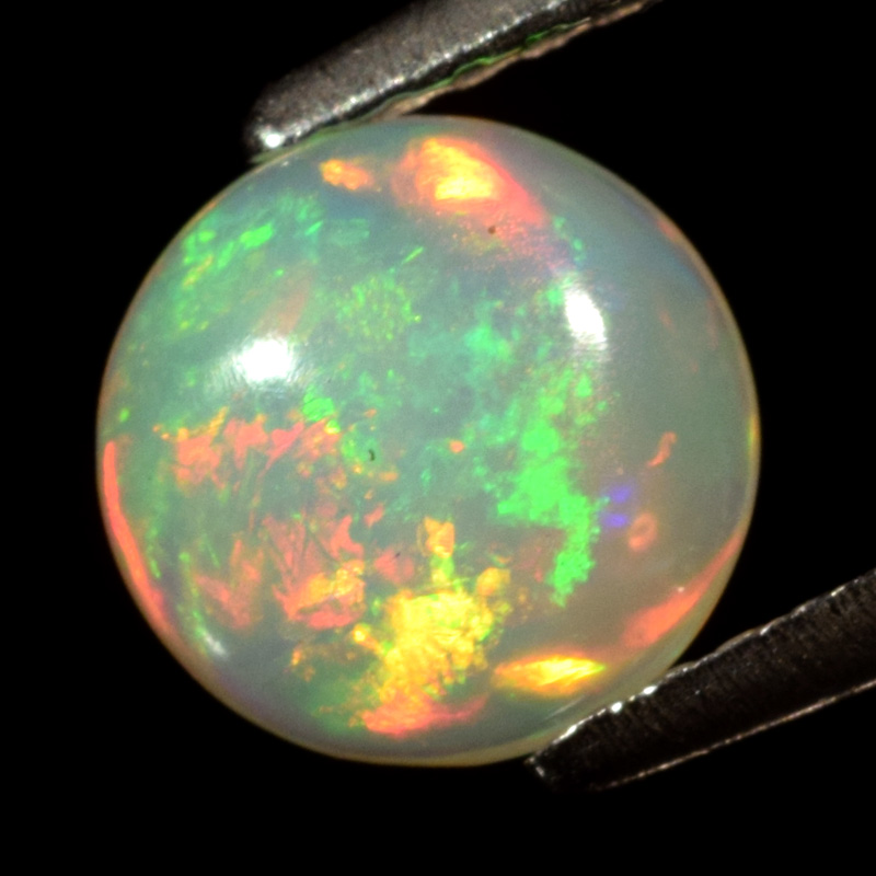 Genuine 100% Natural Crystal Welo White Opal 0.72ct 7.0x7.0x3.2mm Semi-Translucent Ethiopia