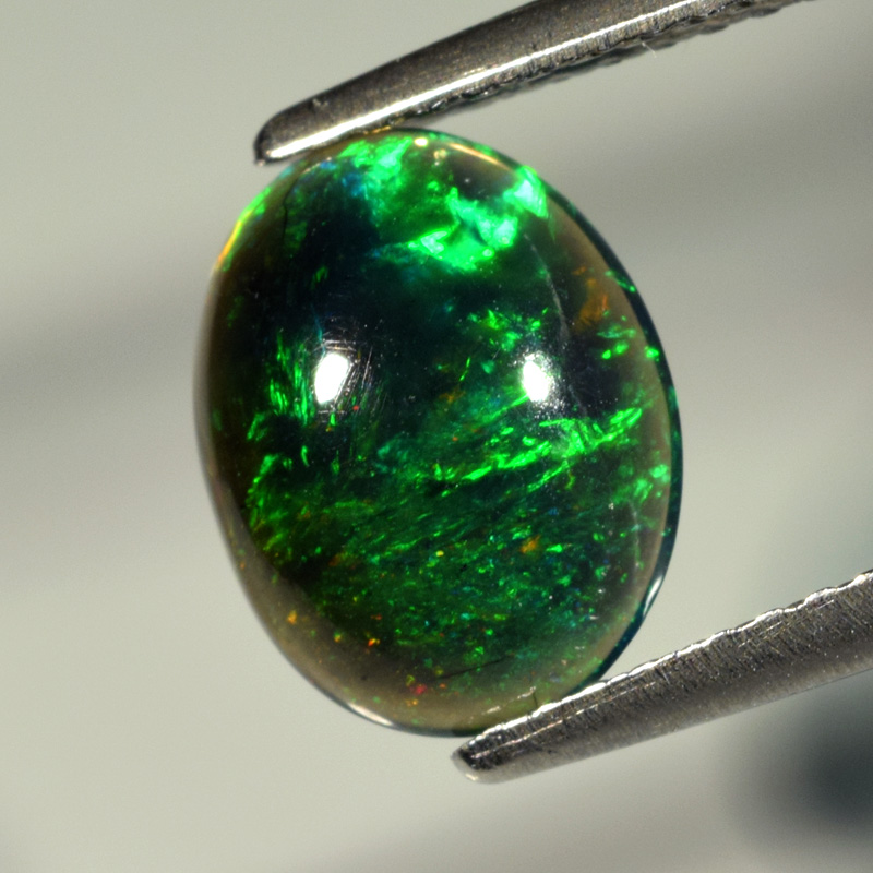 Genuine 100% Natural Cabochon Crystal Welo Black Opal 1.11ct 9.5 x 7.5mm Opaque