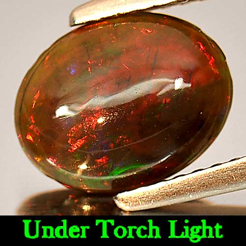 Genuine 100% Natural Cabochon Brown Opal 1.28ct 9.8x7.7mm Opaque Ethiopia