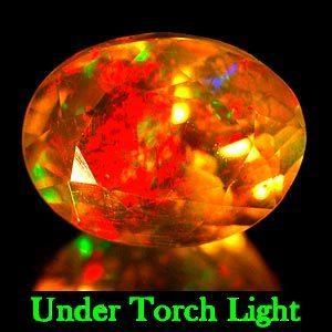 Genuine 100% Natural Flourescent Opal 1.38ct 8.7 x 6.5mm Oval Semi Transparent