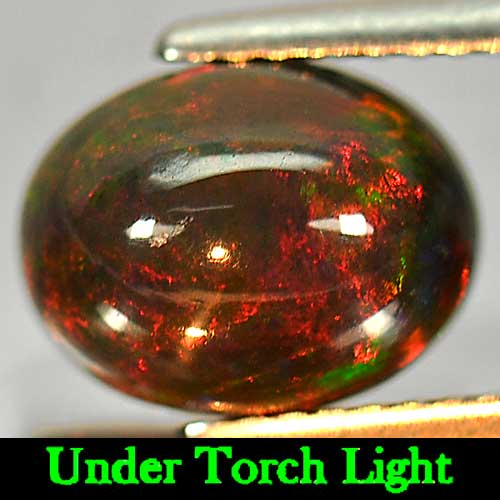 Genuine 100% Natural Cabochon Brown Opal 1.88ct 10.0x7.8mm Opaque Ethiopia