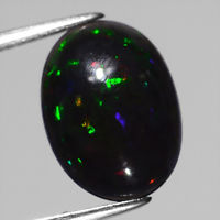 Genuine 100% Natural Cabochon Black Opal 2.31ct 13.5x10.0mm Opaque Ethiopia