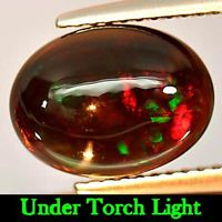 Genuine 100% Natural Cabochon Brown Opal 2.41ct 11.4x8.5mm Opaque Ethiopia