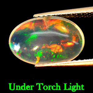 Genuine 100% Natural Flourescent Opal 2.48ct 12.5 x 8.3mm Oval Semi Transparent