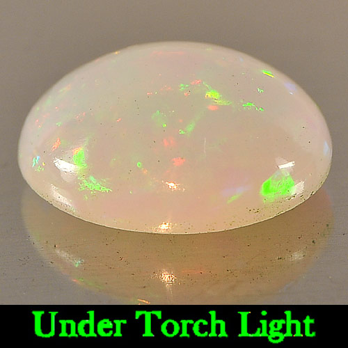 Genuine 100% Natural Play of Colour Opal 2.77ct 11.8x9.4x5.2mm Semi-Transparent Ethiopia