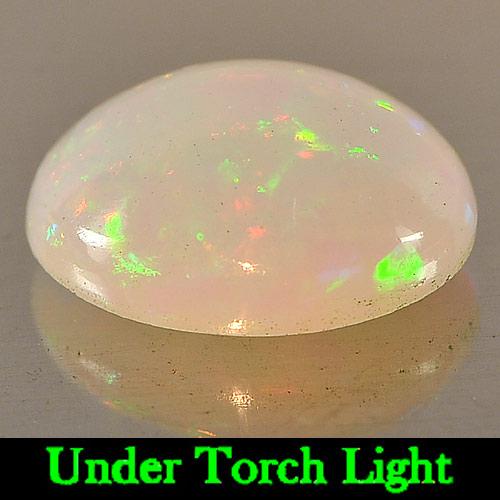 Genuine 100% Natural Play of Colour Opal 2.77ct 11.8x9.4x5.2mm Semi-Transparent Ethiopia