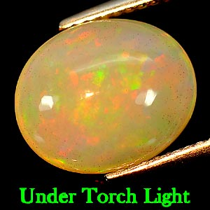 Genuine 100% Natural Play of Colour Opal 2.99ct 12.1x10.1x5.6mm Semi-Transparent Ethiopia