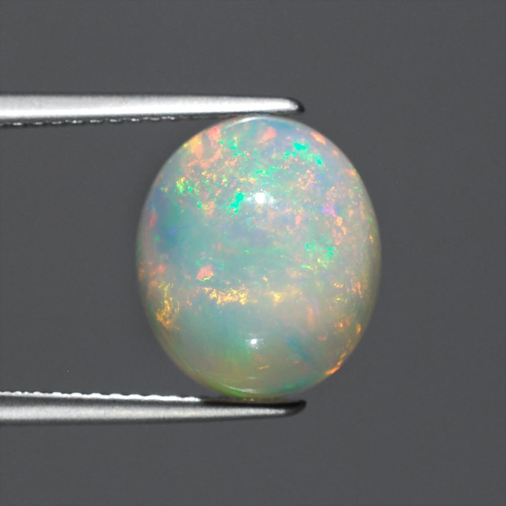 Genuine 100% Natural Opal 3.89ct 12.5x10.7x6.7 translucent Ethiopia