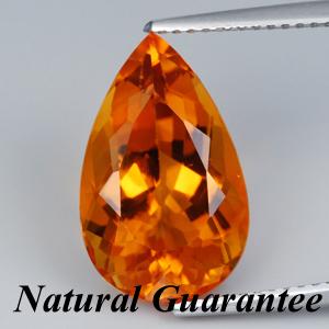 Genuine 100% Natural Orange Citrine 6.47ct 15.9 x 9.9mm VVS