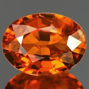 Genuine 100% Natural Mandarin Garnet 1.21ct 7.1 x 5.3mm SI